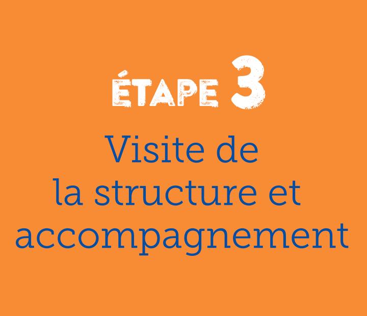 Etape 3 visite de la structure et accompagnement