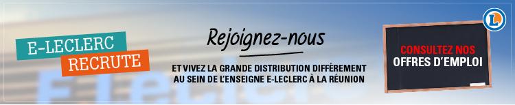Rejoignez-nous et vivez la grand distribution différement au sein de l'enseigne E-Leclerc à La Réunion